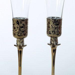 Ритуални сватбени чаши K&Q Gold