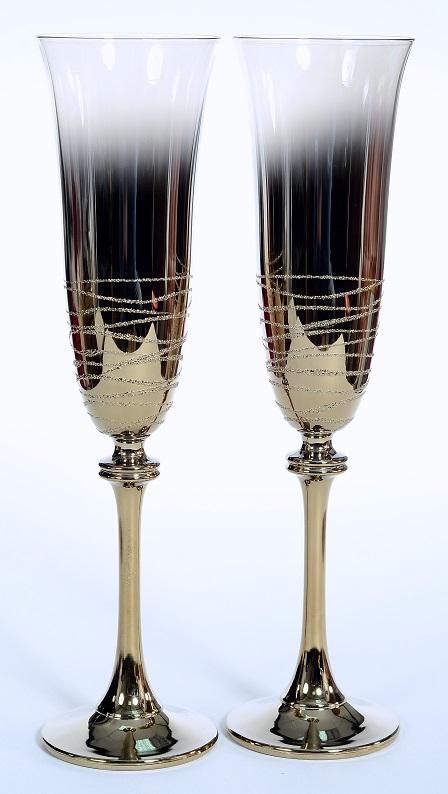 Сватбени чаши Gold Line