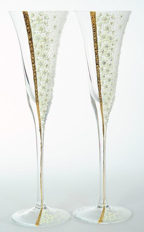 "Луксозни ритуални чаши""Golden flowers"""