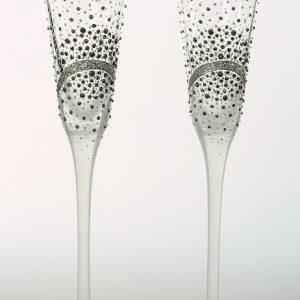 """Ръчно декорирани сватбени чаши """"Black stars"""""""