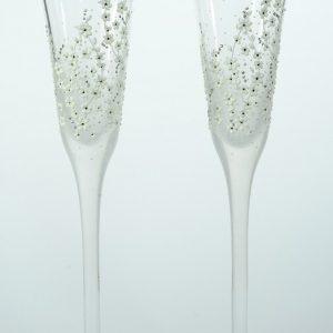 "Ръчно декорирани сватбени чаши ""Цветна пролет"""