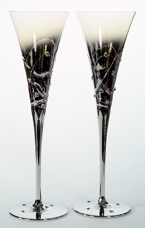 "Сватбени чаши "" Silver Planet"""