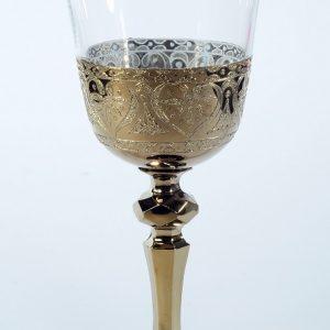 """Златен кристален църковен бокал""""орнамент"""" за църковен ритуал"""