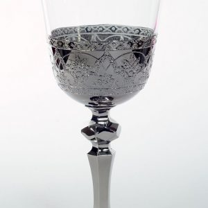 """Сребрън кристален църковен бокал """"орнамент"""" за църковен ритуал"""
