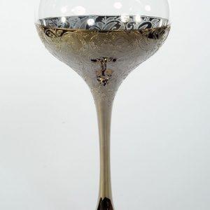 """Златен кристален църковен бокал """"пролет"""" за църковен брак"""