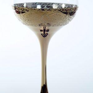"""Златен кристален църковен бокал """"цвете"""" за църковен брак"""