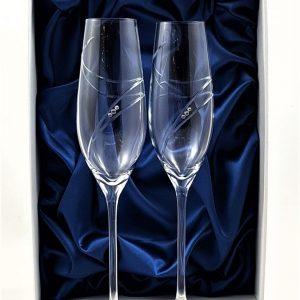 Кристални ритуални чаши с камъни Сваровски
