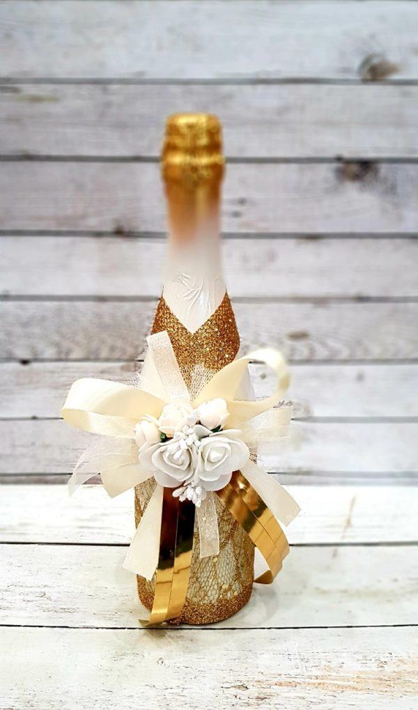 """Сватбено шампанско """"Злато и блясък"""""""