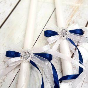 """Ритуални свещи """" Сребро и синьо"""""""