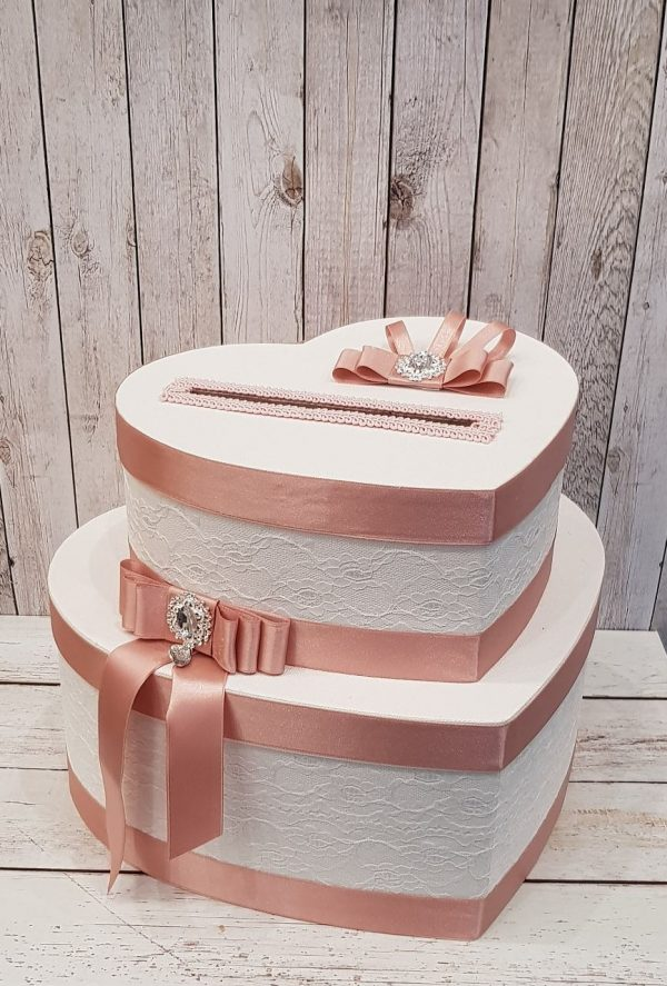 """Сватбена кутия за пари """"Сърце"""""""