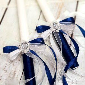 """Ритуални свещи""""Кралско синьо"""""""