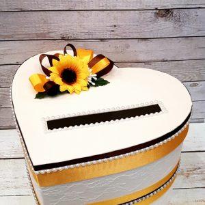 """Сватбена кутия за пари """"Слънчогледи"""""""
