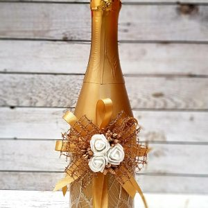 """Сватбено шампанско """"Злато и дантела"""""""
