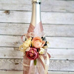 """Сватбено шампанско """"Нежна дантела"""""""