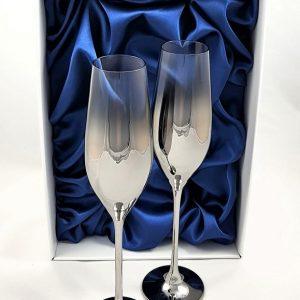 """Метализирани луксозни ритуални чаши """"Сребро"""""""