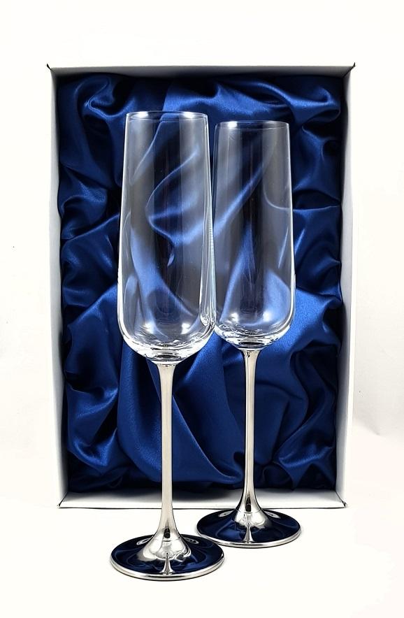 """Метализирани ритуални чаши""""Crystal Silver"""""""
