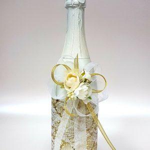 """Сватбено шампанско """"Злато и бяло"""""""