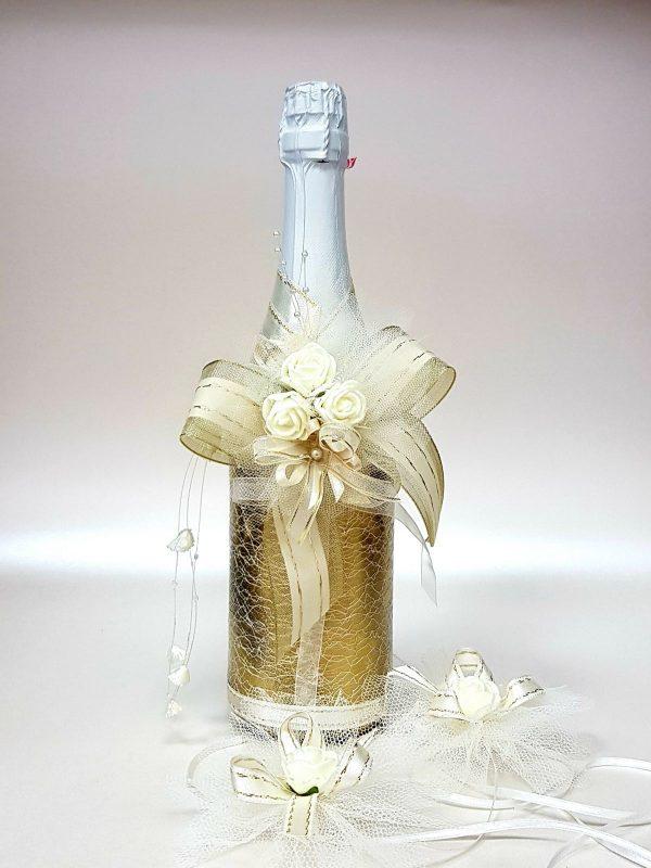 """Сватбено шампанско """"Злато и рози"""""""