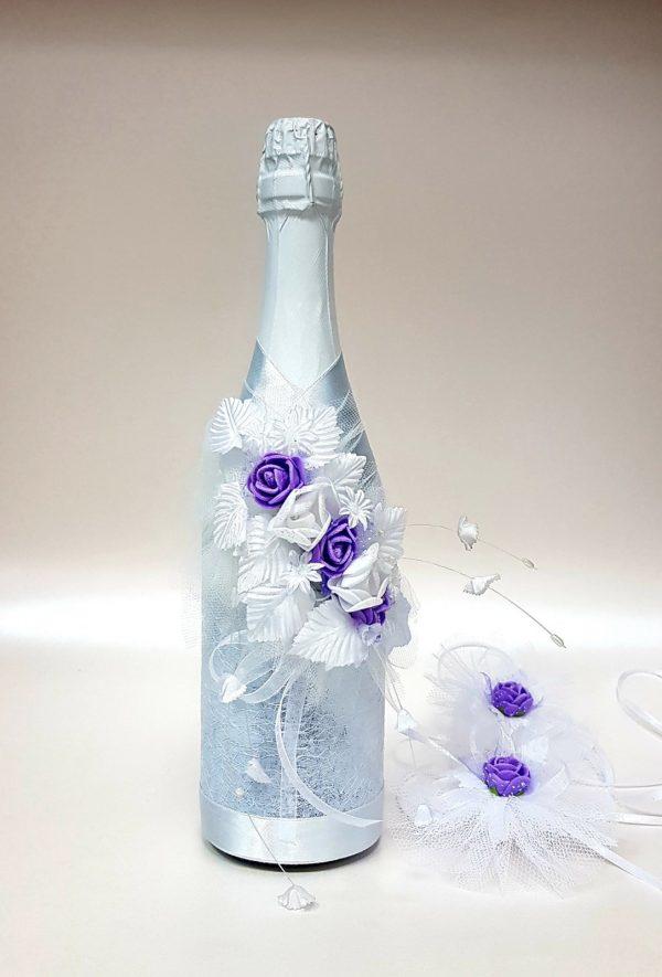 """Сватбено шампанско """"Лила и рози"""""""