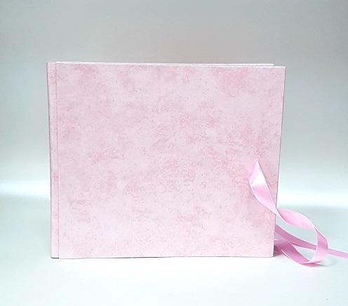 Сватбена книга за пожелания в нежно розово