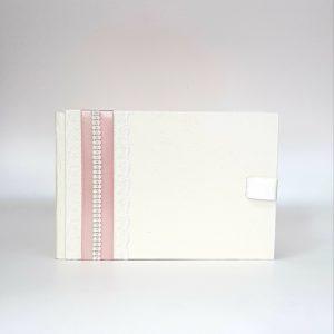 """Сватбена книга за пожелания """"Пудра и перли"""""""