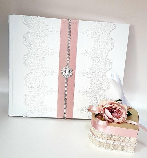 """Сватбена книга за пожелания""""Пепел от рози и кристали"""""""