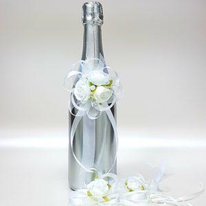 """Сватбено шампанско """"Сребро и украса"""""""