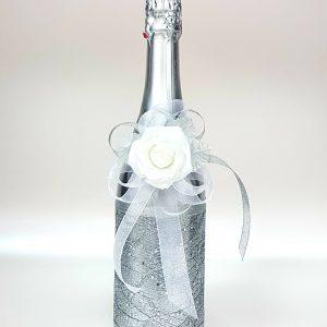 """Сватбено шампанско """"Сребърна роза"""""""