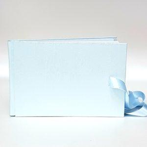 Сватбена книга за пожелания в нежно синьо